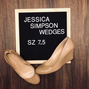 💕 Nude Jessica Simpson Wedges!💕